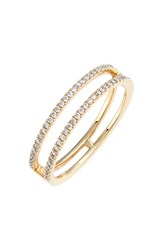 Women's Bony Levy 'Prism' Two Row Diamond Ring Yellow Gold Nordstrom Exclusive