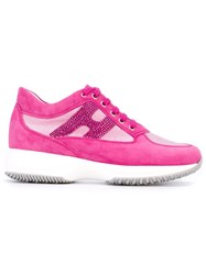 Hogan Fuchsia Pink Sneakers Pink And Purple