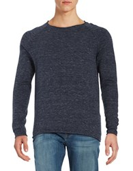 Selected Cotton Crewneck Sweater Dark Blue