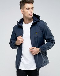 Lyle And Scott Showerproof Raincoat In Navy Navy