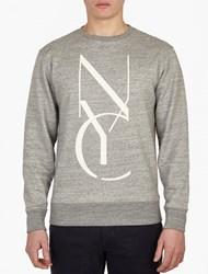 Saturdays Surf Nyc Grey Cotton Logo Sweatshirt