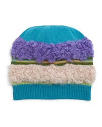 Missoni Fuzzy Striped Knit Hat