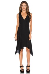 Derek Lam Asymmetrical Tank Dress Black