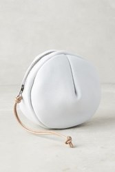 Anthropologie Pleated Circle Pouch White