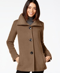Jm Collection Petite Plush Wing Collar Coat Only At Macy's