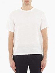 Our Legacy White Boxy Linen T Shirt