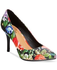 Rampage 143 Girl Owanda Pumps Women's Shoes Black Floral