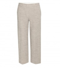 Helmut Lang Cropped Wool Trousers Beige