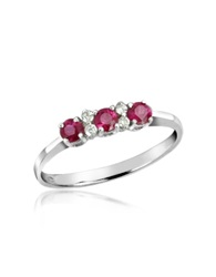 Incanto Royale Ruby And Diamond 18K Gold Ring Silver