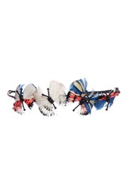 Valentino Hand Beaded Feather Butterflies Ethnic Headband Multi Colour