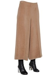 Maison Martin Margiela Wide Leg Fur Effect Alpaca And Wool Pants