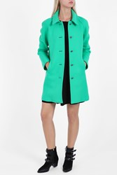 Paul And Joe Heavy Wool Coat Green