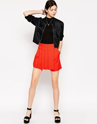 Antipodium Century Pleat Detail Skort Orange