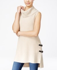 Amy Byer Bcx Juniors' High Low Cowl Neck Sweater Tunic Oatmeal