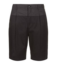 Helmut Lang Twill Pleated Shorts Male Black
