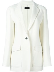 Joseph Single Breasted Blazer White