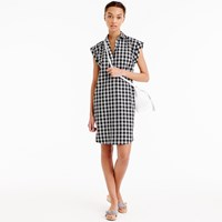 J.Crew Petite Classic Short Sleeve Shirtdress In Gingham
