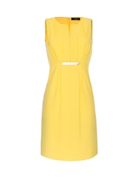 Aftershock Aksel Pleat Detail Dress Yellow