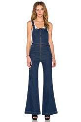 Rolla's East Coast Flare Overall Nicks Blue