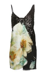 Lanvin Sequin Floral Tank Dress Pink