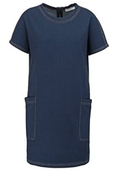 Maxandco. Drop Summer Dress Indigo Blue Denim