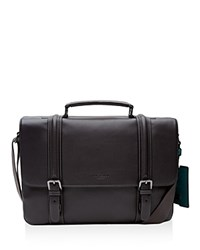 Ted Baker Dizzy Leather Buckle Messenger Bag Charcoal