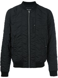 Alexander Wang T By Creased Bomber Jacket Black