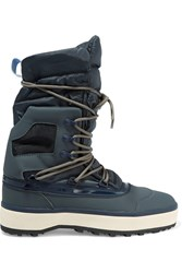 Adidas By Stella Mccartney Nangator Rubber And Quilted Shell Boots Blue