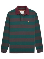 Joules Onside Stripe Rugby Shirt Coal