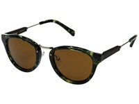 Shwood Ainsworth Dark Forest Matte Gold Brown Fashion Sunglasses
