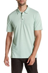 Threads For Thought Short Sleeve Burnout Polo Green