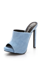 Jeffrey Campbell Roberts Suede Mules Pale Blue
