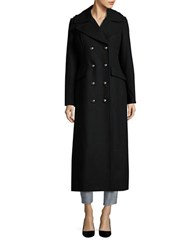 Bcbgeneration Double Breasted Long Peacoat Black