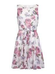 Mela Loves London Rose Print Day Dress Pink