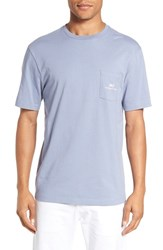Vineyard Vines Men's 'Nautical Badge' Graphic Pocket Crewneck T Shirt Shark