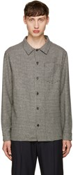 Ami Alexandre Mattiussi Black And Off White Houndstooth Shirt