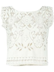 Forte Forte Crochet Tank Top Nude And Neutrals