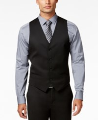 Alfani Red Men's Traveler Black Solid Slim Fit Vest Only At Macy's