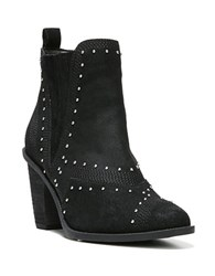 Fergie Dina Studded Suede Ankle Boots Black