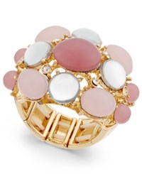 Inc International Concepts Gold Tone Mauve Stone Bubble Stretch Ring Only At Macy's