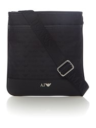 Armani Jeans All Over Logo Jaquard Cross Body Black