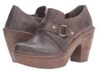 Born Onega Brown Full Grain Leather Women's Clog Shoes