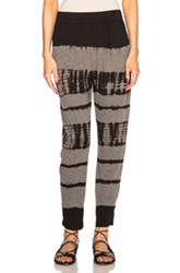 Raquel Allegra Easy Pants In Black Ombre And Tie Dye