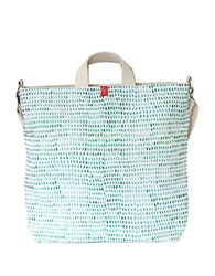 Brika Painted Spots Artist Tote Turquoise