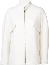 Chloe Buckle Collar Jacket White