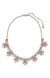 Women's Marchesa Crystal Cluster Bib Necklace