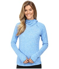 Nike Dry Element Running Hoodie Light Photo Blue Heather Reflective Silver Women's Sweatshirt