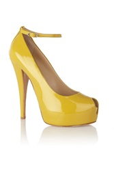Giuseppe Zanotti Patent Leather Pumps Yellow