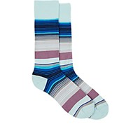 Paul Smith Men's Jess Striped Mid Calf Socks Blue
