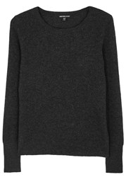 James Perse Anthracite Thermal Knit Cashmere Jumper